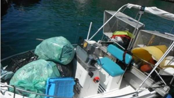 Residuos recogidos de las aguas de playas y calas