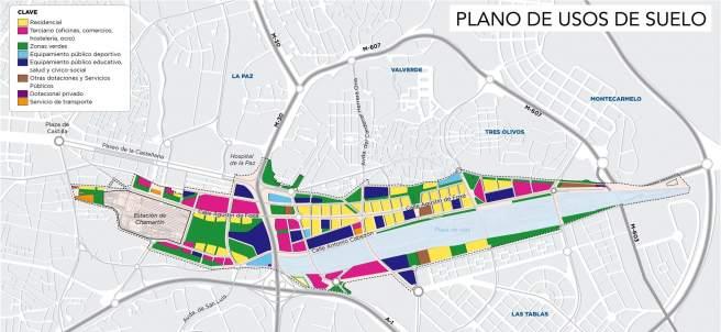 Planos de uso del suelo de Madrid Nuevo Norte