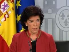 """Celaá tacha debate sobre tesis como intento de """"abatir"""" al Gobierno"""