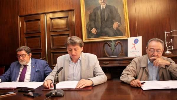 Martín de Marco, Carlos Martínez y Carlos de la Casa, de izda a dcha.