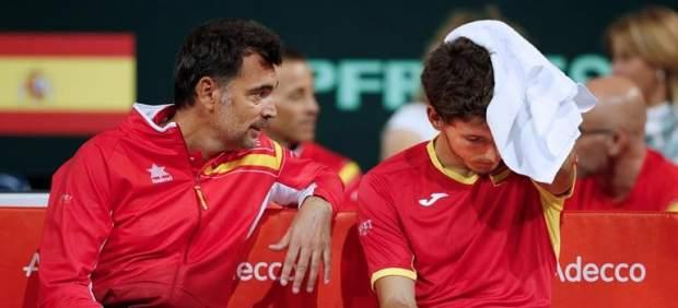 Carreño cae ante Paire en la Copa Davis con polémica por jugar lesionado