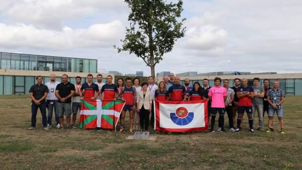 Ertzainas que participan en los VII Juegos Europeos