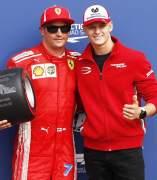 Kimi Räikkönen y Mick Schumacher