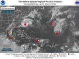 Mapa huracanes Atlántico