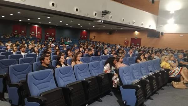 Asistentes a una de las charlas para estudiantes de movilidad internacional.