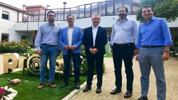(Desde Dcha.) Bellido, Molina, García Y Cabello Ante Prode