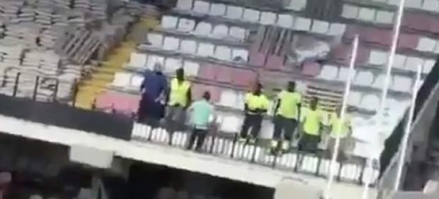 Se filtra un insólito vídeo de las 'pruebas de seguridad' del Estadio de Vallecas