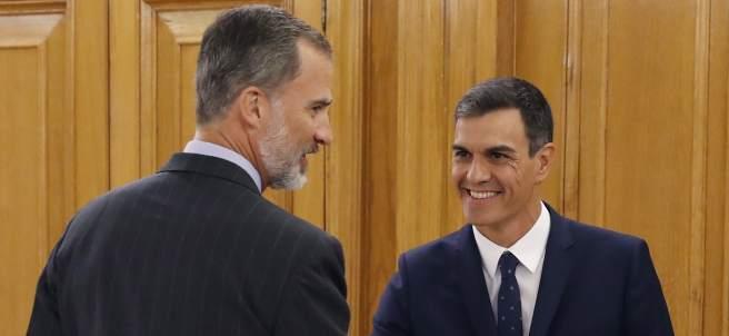 Pedro Sánchez y el rey Felipe