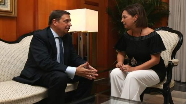 Luis Planas con Isabel Ambrosio