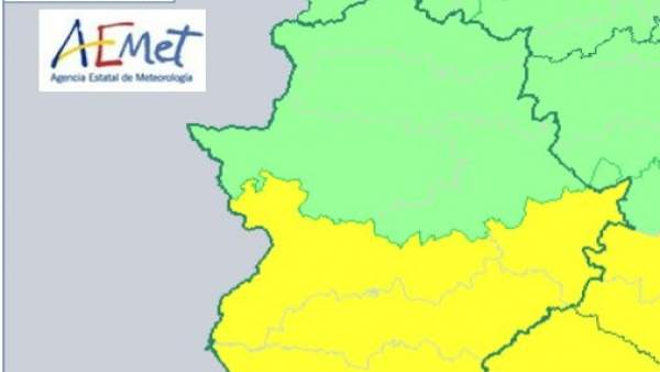 Alerta amarilla en Badajoz por tormentas