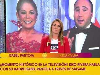 Isabel Pantoja llama en directo a 'Sálvame' y le responde su hijo, Kiko Rivera.