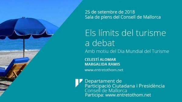 Cartel conferencia 'Efectos del turismo en las Islas'