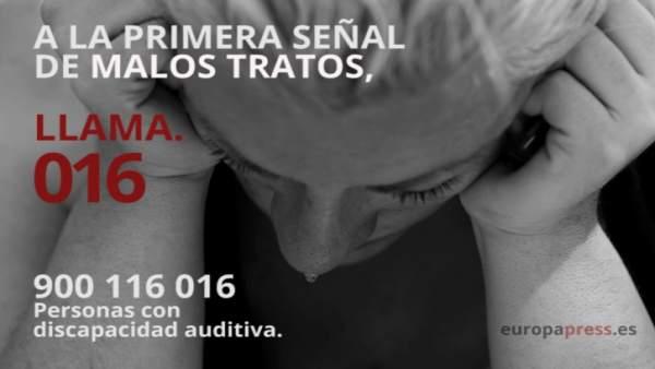 Teléfono de Atención a mujeres maltratadas 016