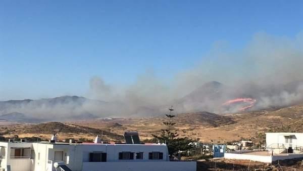 Incendio forestal en El Pozo de los Frailes en junio de 2017