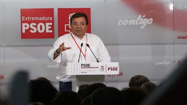 Fernández Vara, en un acto del partido en Mérida