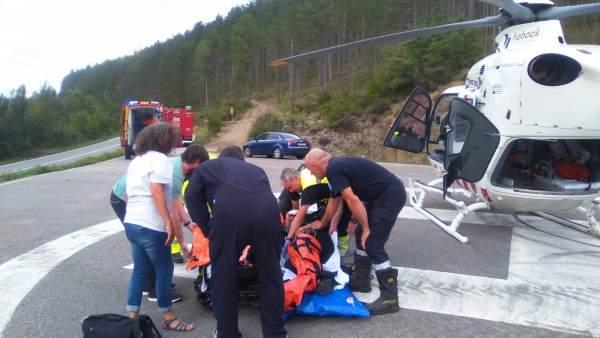 Herido un motorista en un accidente de tráfico en Aspurz