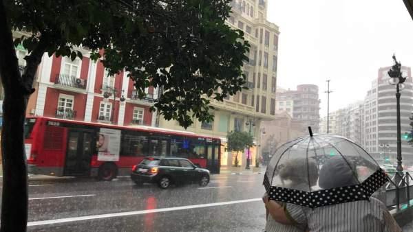Lluvia este sábado en València