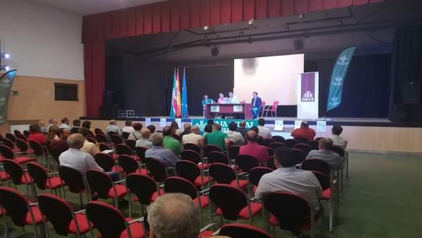 Inauguración de la II Feria Ecológica del Altiplano, celebrada en Orce (Granada)