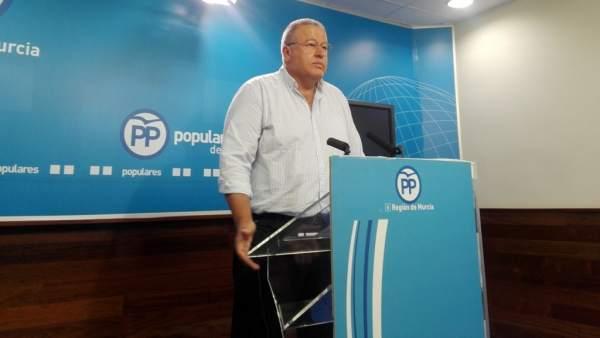 El portavoz de Fomento del PP en el Senado, Francisco Bernabé