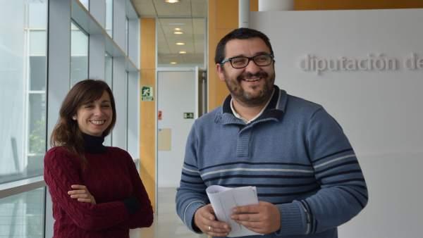 Teresa Sánchez y Guzmán Ahumada, diputados provinciales IU Diputación