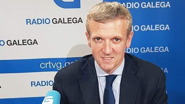 Alfonso Rueda, en entrevista en la Radio Galega