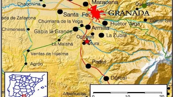 Seísmo registrado este domingo con epicentro en Otura