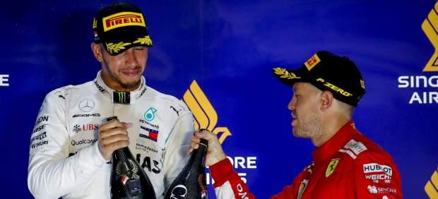 Las cuentas de Hamilton y Vettel para ser campeones del mundo de Fórmula 1