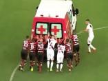 Ambulancia en el Flamengo-Vasco