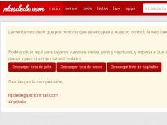 La web de 'streaming pirata' Plusdede cierra definitivamente su página
