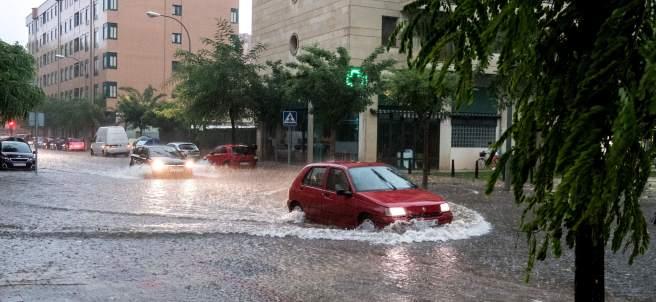 Fuertes lluvias en Logroño