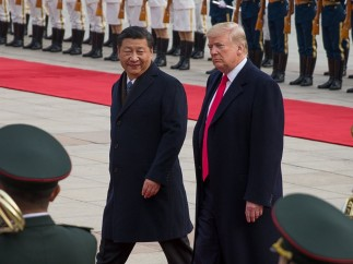 Donald Trump en China, imagen de archivo