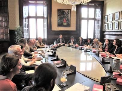Junta de Portavoces del Parlament.