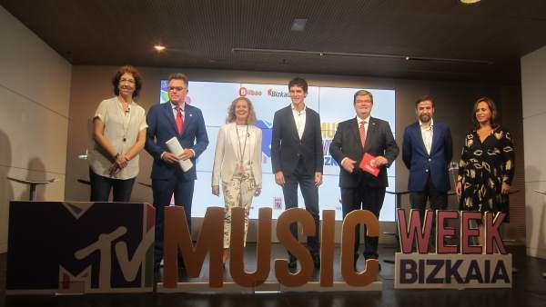 Presentación MTV Music Week Bizkaia.