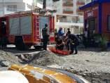 Bomberos se preparan para el rescate del cuerpo