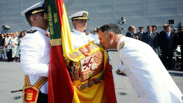 Despedida de almirante en Rota