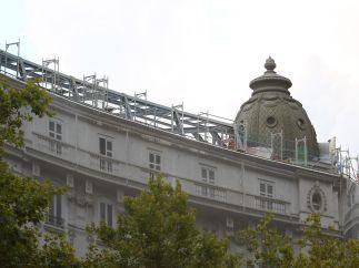 Vigas del forjado superior del Ritz