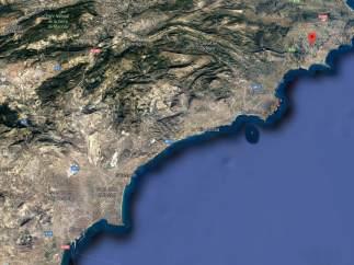 Localització de Calp (Alacant)