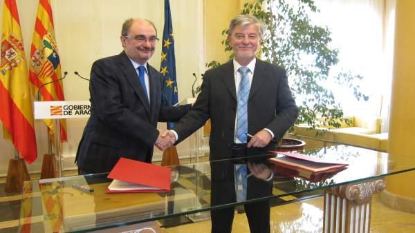 Javier Lambán y Pedro Santisteve, en una imagen de archivo