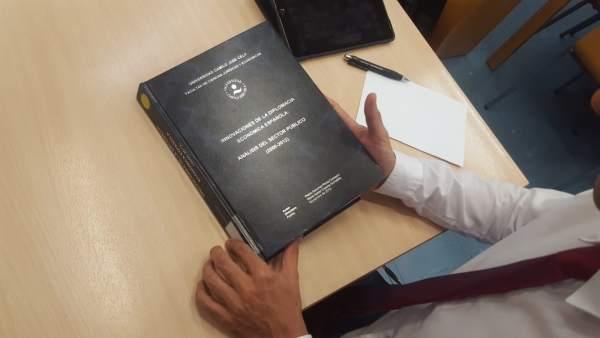 Tesis doctoral de Pedro Sánchez enla universidad Camilo José Cela.