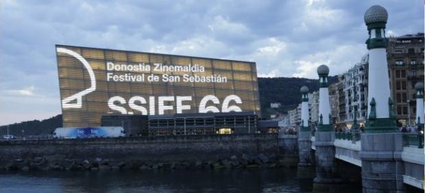 Imagen del Kursaal en la 66º edición del Festival del Cine de San Sebastián.