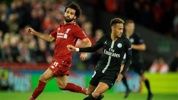 Neymar y Mohamed Salah.