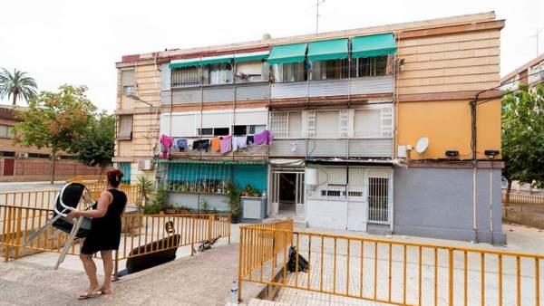 Mujer quemada en Murcia