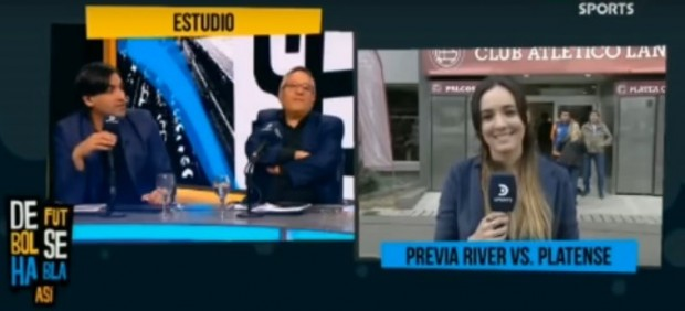 Una periodista argentina ridiculiza a un exfutbolista por sus comentarios machistas