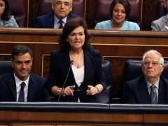 """Carmen Calvo: """"No sería lógico alargar la prisión a políticos independentistas presos si se retrasa el juicio"""""""