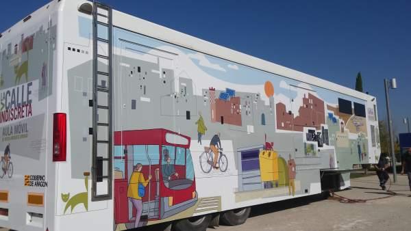Aula móvil de medio ambiente urbano 'La Calle Indiscreta'.