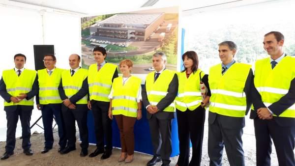 Arantxa Tapia con responsables de ITP