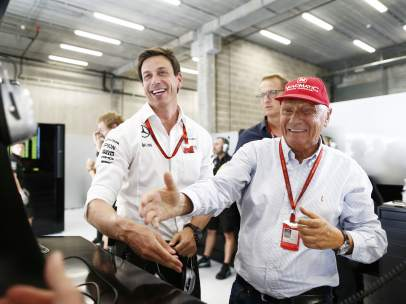 Toto Wolff y Niki Lauda