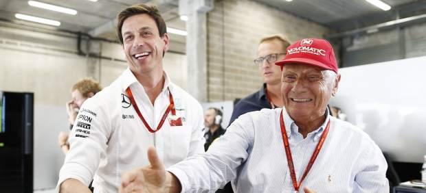 El emocionante homenaje de Mercedes a Niki Lauda en su box durante el GP de Mónaco