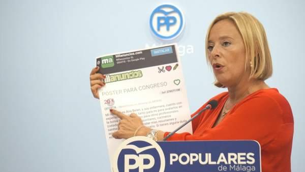 Mariví Romero, parlamentaria del PP