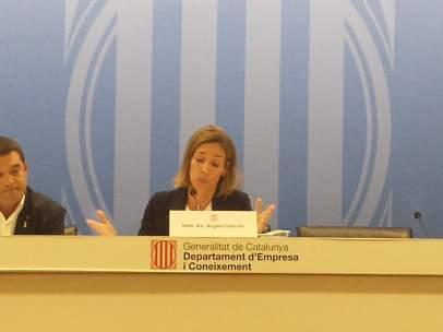 Àngels Chacón, consellera d'Empresa y Coneixement de la Generalitat